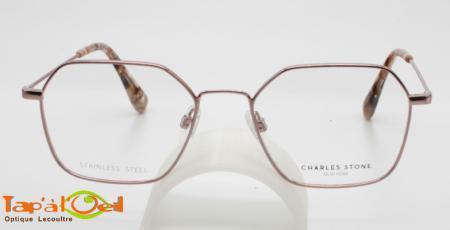 Charles Stone NY30069 C1 et C3- Lunettes pour femme en métal fin rectangulaire
