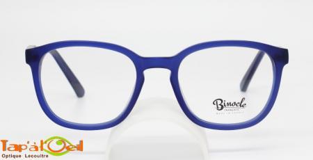 Croque-monsieur - Acétate bleu marine et grise, finition brute