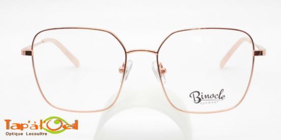 Binocle Eyewear - Alhéna couleur GDPK - La forme rectangulaire pour femme