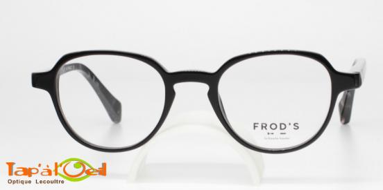 Frod's lunetterie FR0614 coloris 010 - Monture acétate de fabrication française