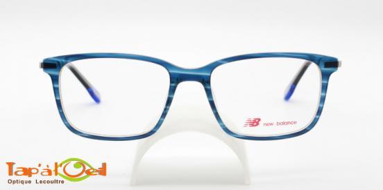 New Balance 5063-2 - Monture homme bleue de forme rectangulaire