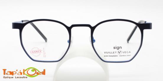 Vuillet Vega - Sign 5591 col 04 - Monture origniale mixte cerclée bleue