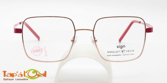 Vuillet Vega - Sign 5628 col 27 - Mionture femme carré cerclée or